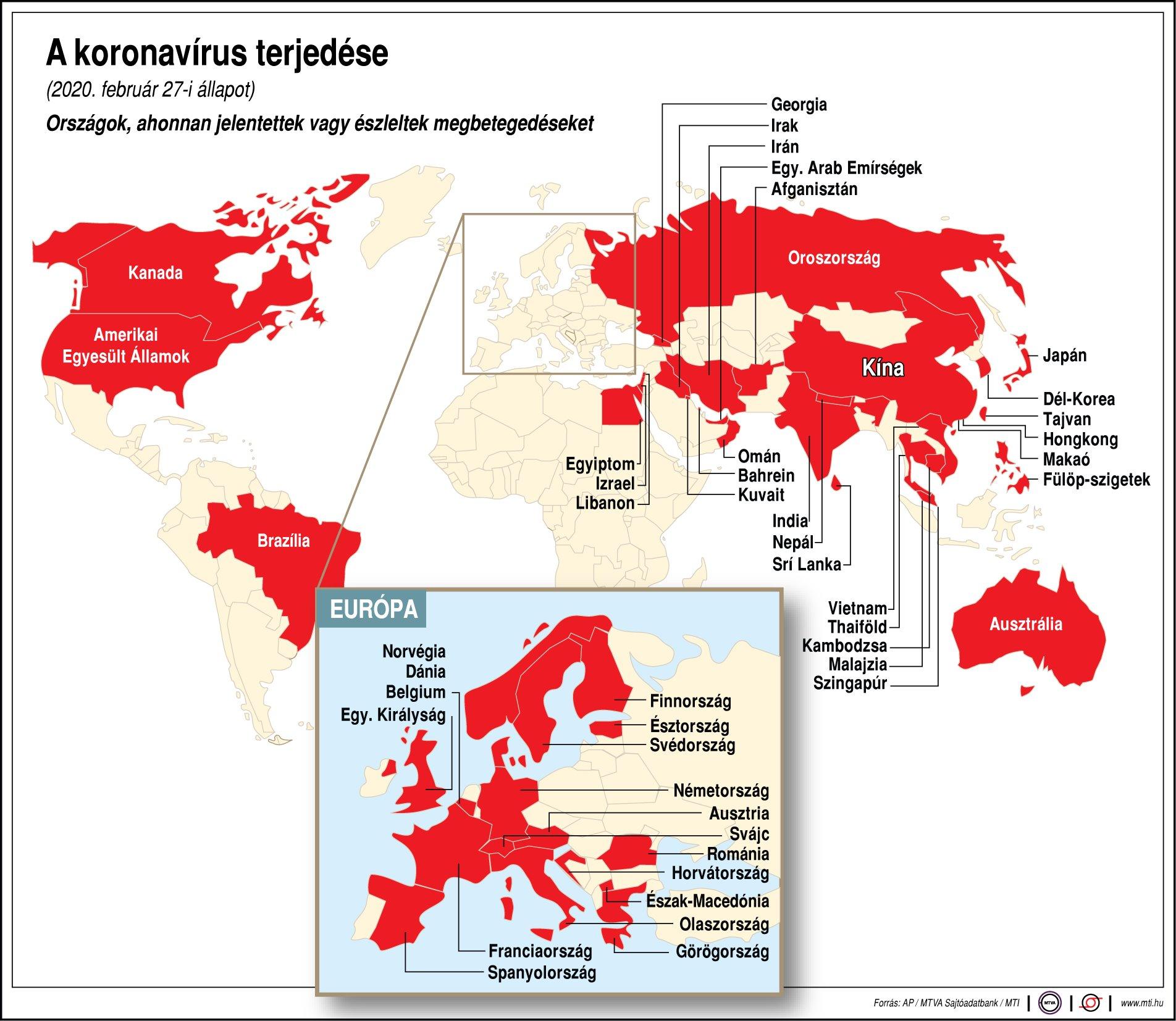 Itt Van A Friss Koronavirus Terkep Profitline Hu